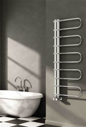 Reina Oglio Stainless Steel Designer Heated Towel Rail