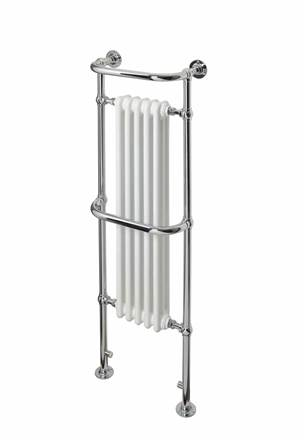 DQ Double Quick Old Buckenham Traditional Floor Mounted Towel Rail