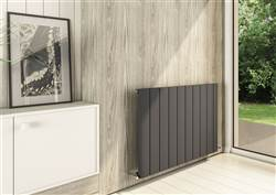Warmrooms Curva Horizontal Aluminium Radiator