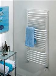 The Radiator Company Poll Electric White Heated Towel Rail