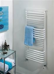 The Radiator Company Poll White Heated Towel Rail