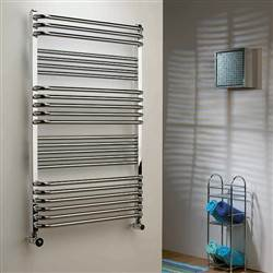 The Radiator Company Poll Chrome Heated Towel Rail