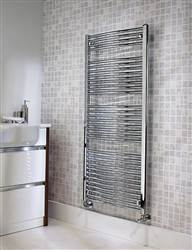 The Radiator Company Poppy Curved Chrome Heated Towel Rail