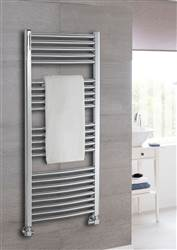 The Radiator Company Poppy Electric Curved Chrome Heated Towel Rail