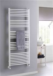 The Radiator Company Poppy Curved White Heated Towel Rail