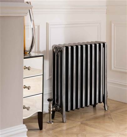The Radiator Company Priory 3 Column Polished Cast Iron Radiator