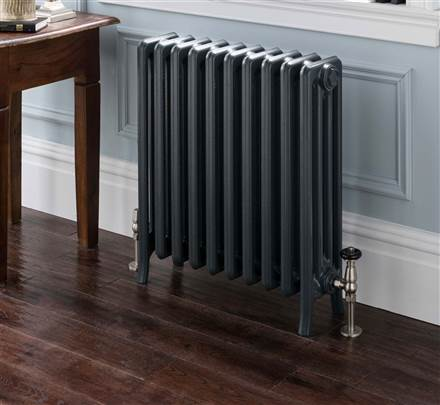 The Radiator Company Priory 4 Column Polished Cast Iron Radiator