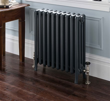 The Radiator Company Priory 5 Column Polished Cast Iron Radiator