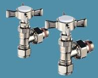Bisque Valve Set RM Angled Manual Radiator Valves