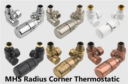 MHS Radius manual and thermostatic valve sets