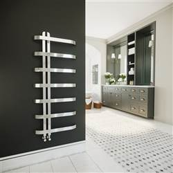 DQ Double Quick Rebo Stainless Steel Heated Towel Rail