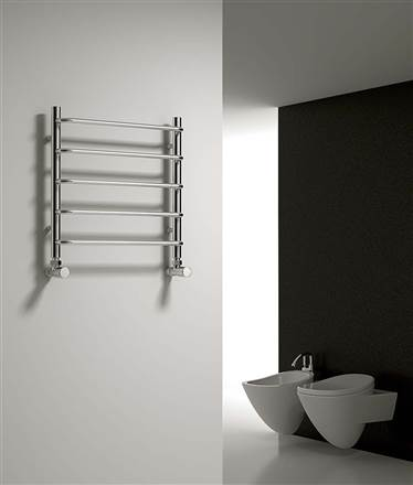 Reina Aliano Chrome Heated Towel Rail