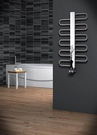 Reina Dynamic Stainless Steel Heated Towel Rail