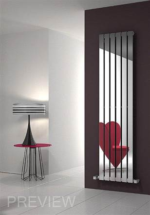 Reina Lavian Polished Stainless Steel Vertical Radiator