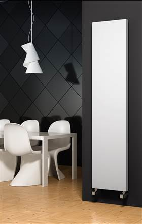 Reina Nero Flat Panel Vertical Radiator