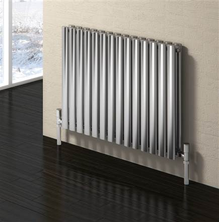 Reina Nerox Brushed Stainless Steel Horizontal Radiator