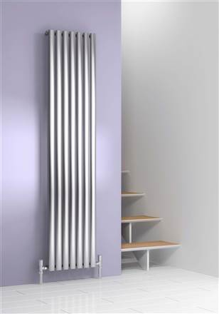 Reina Nerox Brushed Stainless Steel Vertical Radiator