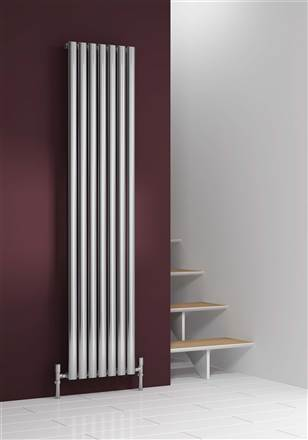 Reina Nerox Polished Stainless Steel Vertical Radiator