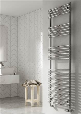 Reina Pavia Chrome Heated Towel Rail