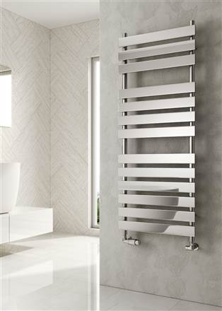 Reina Trento Chrome Tube on Tube Heated Towel Rail