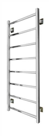 SBH SS101SQ Maxi Square 8 Bar Straight Stainless Steel Heated Towel Rail