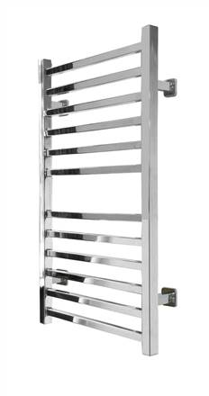 SBH SS200SQ Midi Square Straight Stainless Steel Heated Towel Rail
