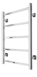 SBH SS201SQ Midi Square 5 Bar Straight Stainless Steel Heated Towel Rail