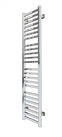SBH SS400SQ Mega Slim Square Straight Stainless Steel Heated Towel Rail