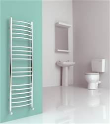 SBH SS106 Maxi Slim Curved Stainless Steel Heated Towel Rail
