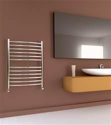 SBH SS202 Midi Curve Stainless Steel Heated Towel Rail