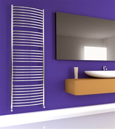 SBH SS702 Jumbo Curve 600 Stainless Steel Heated Towel Rail