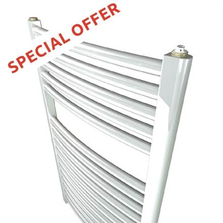 Stelrad Curved White Heated Towel Rail - SPECIAL OFFER !