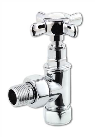 Selene traditional cross head chrome radiator valves