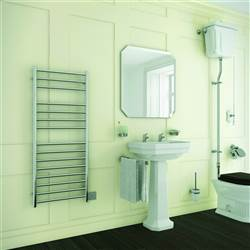DQ Double Quick Siena Stainless Steel Electric Towel Rail