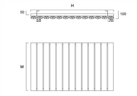 DQ Double Quick Sol Single Horizontal Radiator