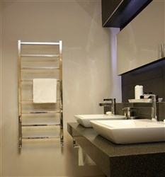 Aestus Stance Stainless Steel Heated Towel Rail