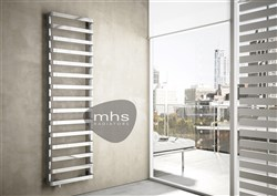 MHS Step-B Chrome Designer Heated Towel Rail