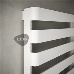 MHS Step-B White Designer Heated Towel Rail
