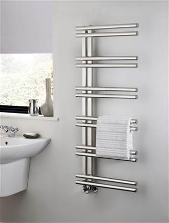 The Radiator Company Stratos Stainless Steel Heated Towel Rail