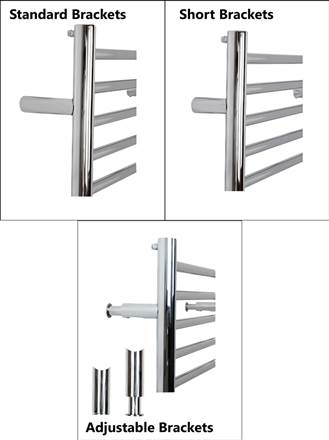 JIS Sussex Pevensey Stainless Steel Heated Towel Rail