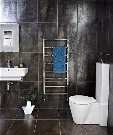 JIS Sussex Brunswick square stainless steel heated towel rail