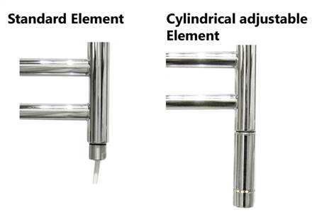 JIS Sussex Lindfield Stainless Steel Heated Towel Rail
