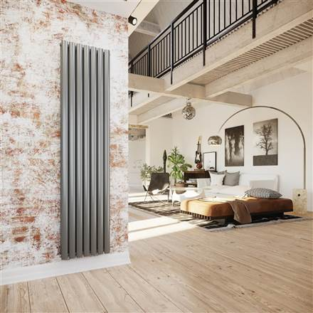 DQ Double Quick Tao Vertical Oval Tubed Designer Radiator