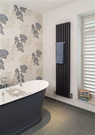 Bisque Tetro Towel Traditional Heated Towel Rail