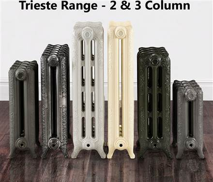 The Radiator Company Trieste 2 Column Cast Iron Radiator Lacquered