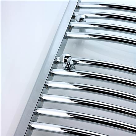 Ultraheat Chelmsford curved chrome electric towel rail