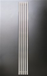 Ultraheat Imperium Chrome Vertical Tubed Designer Radiator