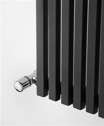 Ultraheat Klon Textured Metallic Black and Charcoal Grey Horizontal Designer Radiator