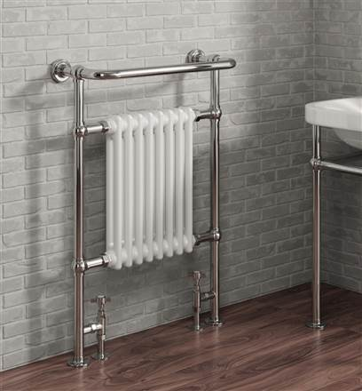 Reina Victoria Traditional Floor Mounted Heated Towel Rail