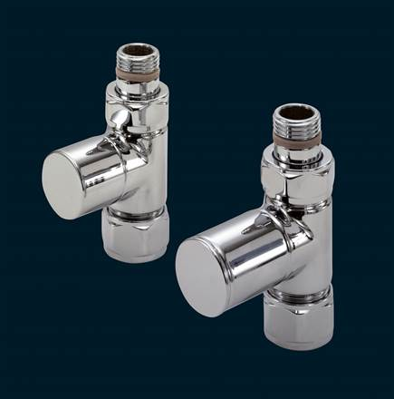 Bisque Valve Set C Straight Manual Radiator Valves